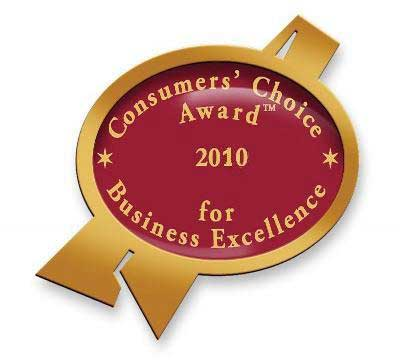 2010 Consumers Choice Award For Best Duct Cleaner