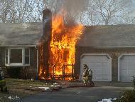 House furnace fire