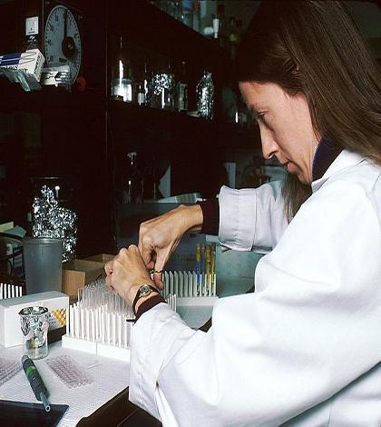 Indoor Air Quality Testing - technician doing lab tests