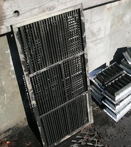 91mmx smoke damaged air return grill