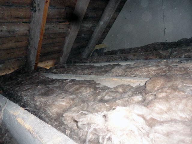 Old attic insulation