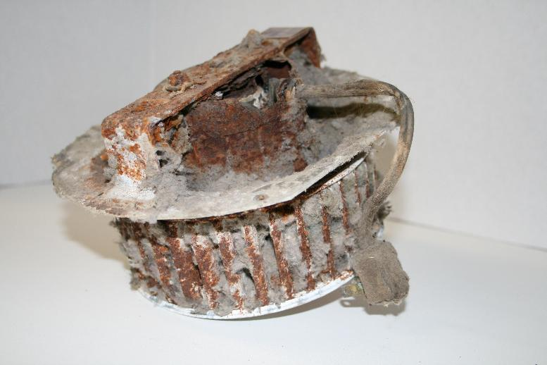 Dirty dryer exhaust fan 1