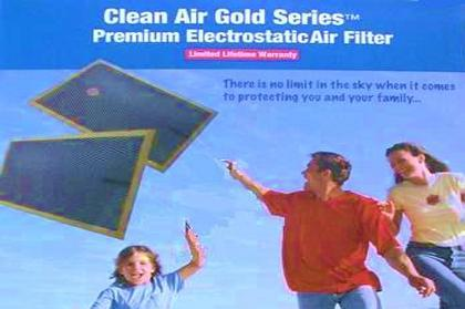 Eelectrostatic air filters