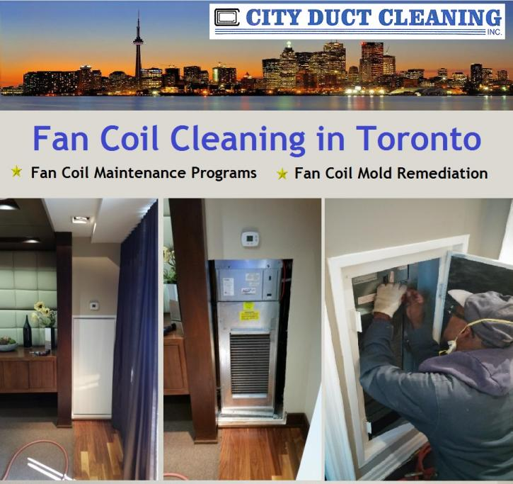 Fan coil maintenance and fan coil cleaning in Toronto.