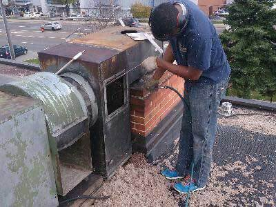 Cleaning Rooftop Exhaust Fan